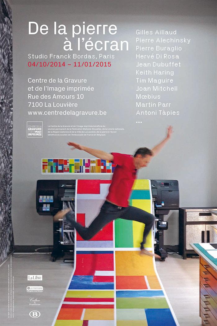Visuel : vue du Studio Franck Bordas, impression des Tableaux mexicains de Ianna Andréadis, photo I.A.