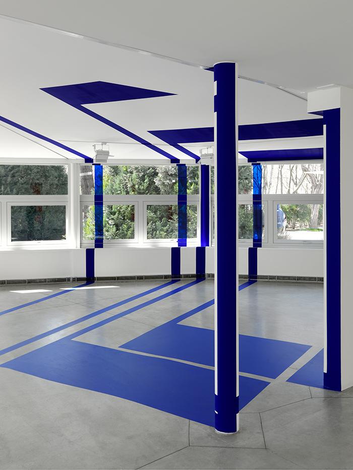 """Varini """"Sept carrés pour sept colonnes"""" © André Morin"""