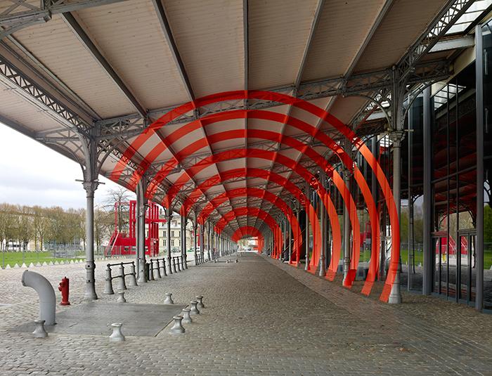 """Varini """"Arcs de cercle sur diagonale"""" © André Morin"""