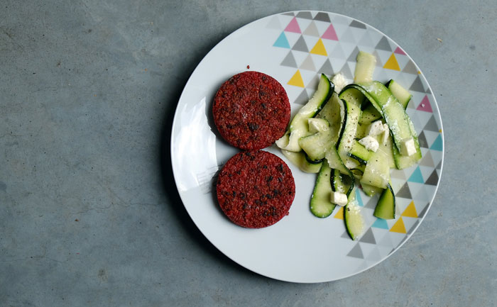The Little Green Box recette burgher quinoa courgettes