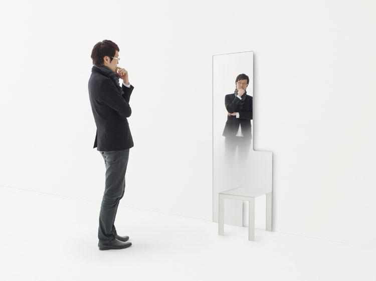 Nendo, Mirror Chair, Glas Italia © Cesare Chimenti