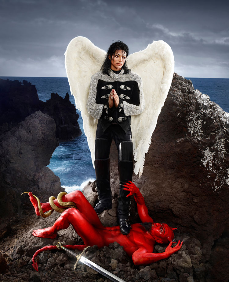 Archangel Michael, And No Message Could Have Been Any Clearer, 2009 Chromogenic Print © David LaChapelle Studio Inc