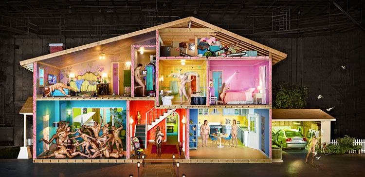 Self Portrait as House, 2013 Chromogenic Print © David LaChapelle Studio Inc
